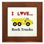 I Love Rock Trucks Framed Tile