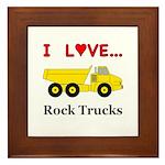 I Love Rock Trucks Framed Tile