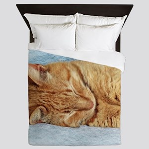 Sleepy Kitty Queen Duvet