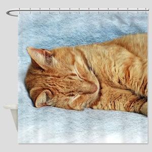 Sleepy Kitty Shower Curtain