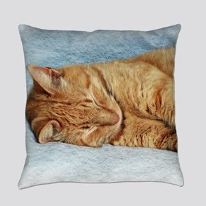 Sleepy Kitty Everyday Pillow