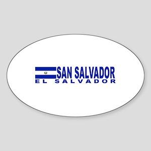 San Salvador, El Salvador Oval Sticker