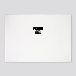 Proud to be NEAL 5'x7'Area Rug
