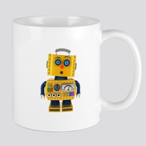 Surprised toy robot Mugs