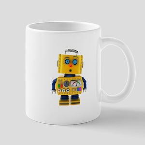 Surprised toy robot Mugs