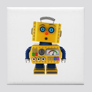Surprised toy robot Tile Coaster