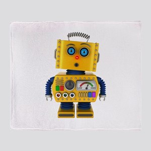 Surprised toy robot Throw Blanket