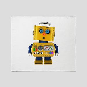 Surprised toy robot Throw Blanket