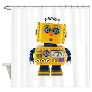 Vintage Robot Shower Curtains