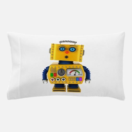 Surprised toy robot Pillow Case