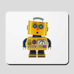 Surprised toy robot Mousepad