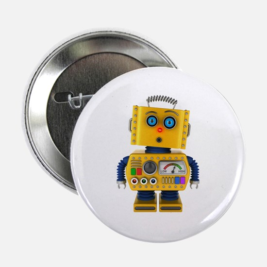 "Surprised toy robot 2.25"" Button"