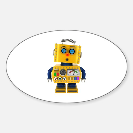 Surprised toy robot Decal