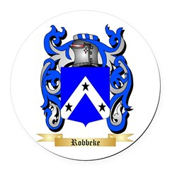 Robbeke Round Car Magnet