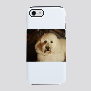 flufy white dog at night iPhone 8/7 Tough Case