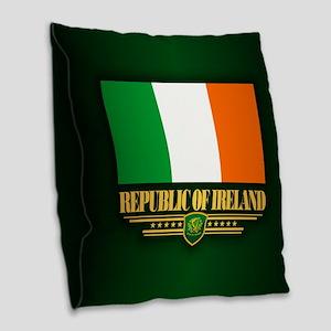 Flag Of Ireland Burlap Throw Pillow