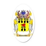 Roasander Oval Car Magnet