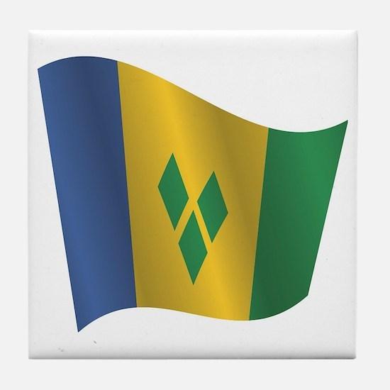 Unique World flags Tile Coaster