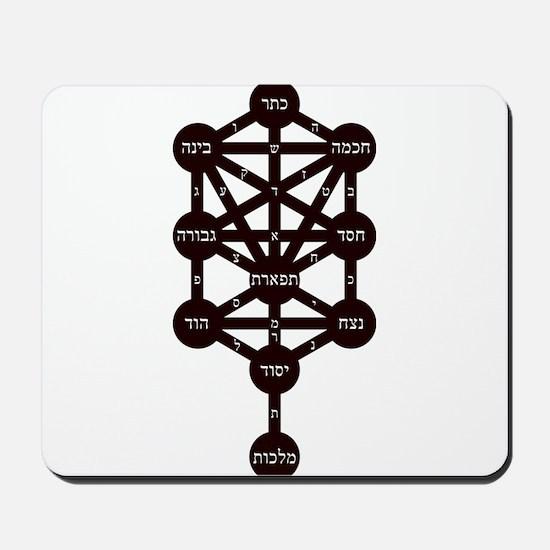Kabbalah Judaism Tradition Hebrew Alphab Mousepad