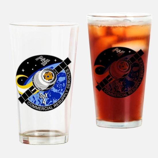 SpX-4 Logo Drinking Glass