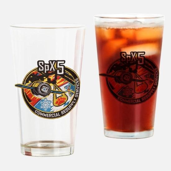 SpX-5 Logo Drinking Glass