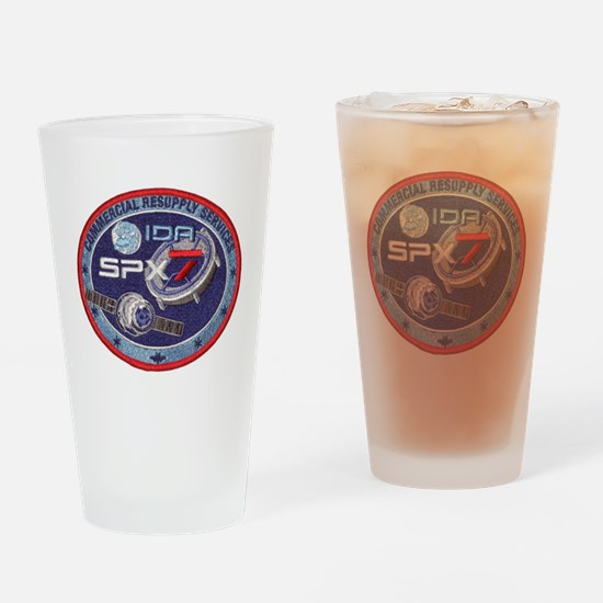 SpX-7 Logo Drinking Glass