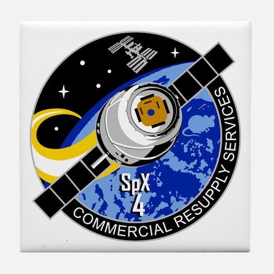 SpX-4 Logo Tile Coaster