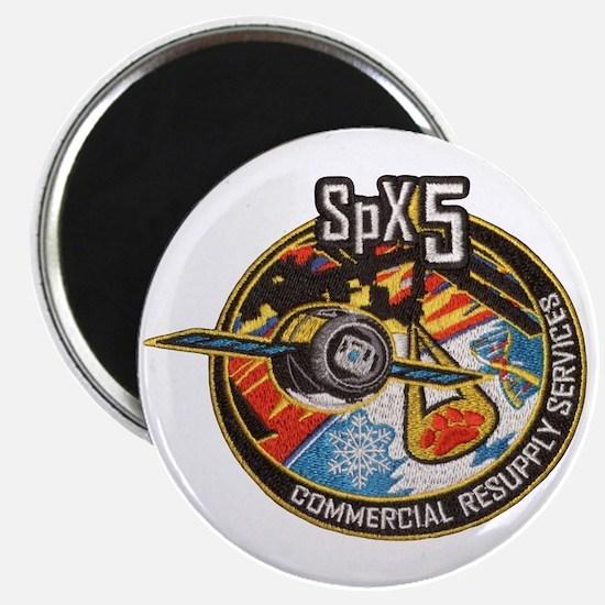 SpX-5 Logo Magnet