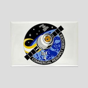 SpX-4 Logo Rectangle Magnet