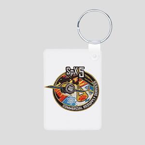 SpX-5 Logo Aluminum Photo Keychain