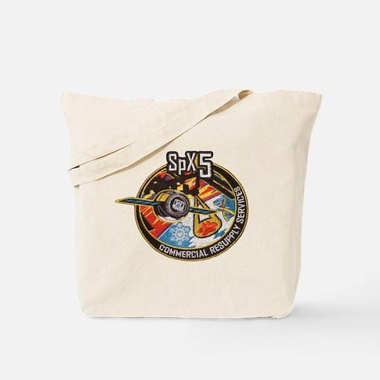 SpX-5 Logo Tote Bag