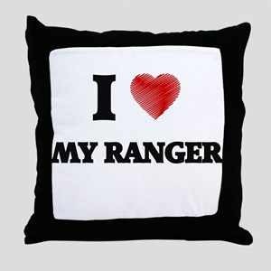 I Love My Ranger Throw Pillow