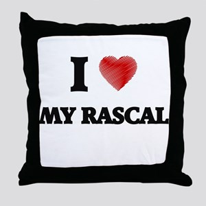 I Love My Rascal Throw Pillow