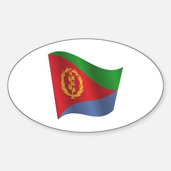 Cute eritrea flag sticker oval
