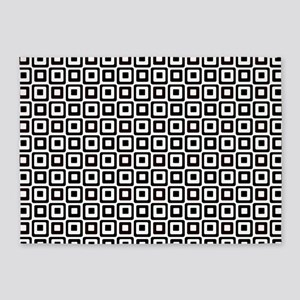Black-n-White Squares 5'x7'Area Rug