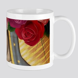 Virgin of Guadalupe with Roses Mugs