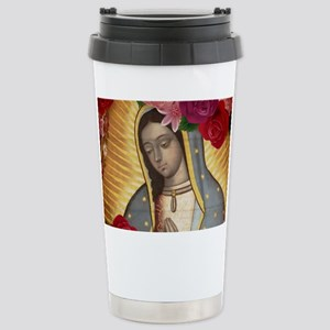 Virgin of Guadalupe wit Stainless Steel Travel Mug
