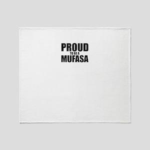 Proud to be MUFASA Throw Blanket