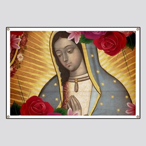Virgin of Guadalupe with Roses Banner