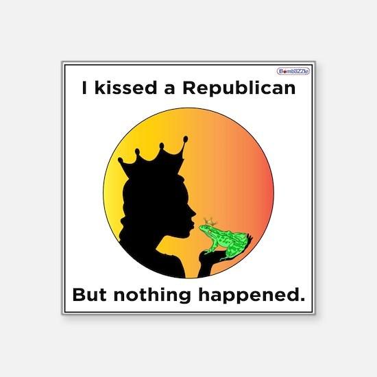 I Kissed A Republican / Sticker