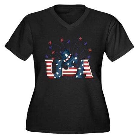 USA Fireworks Plus Size T-Shirt
