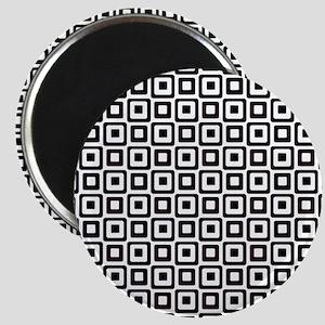 Black-n-White Squares Magnets