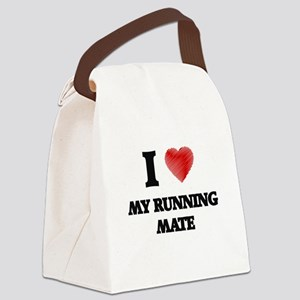 I Love My Running Mate Canvas Lunch Bag