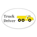 Truck Driver Sticker (Oval 50 pk)