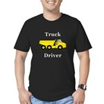 Truck Driver Men's Fitted T-Shirt (dark)