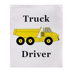 Truck Driver Throw Blanket