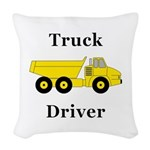 Truck Driver Woven Throw Pillow