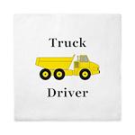 Truck Driver Queen Duvet