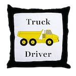 Truck Driver Throw Pillow