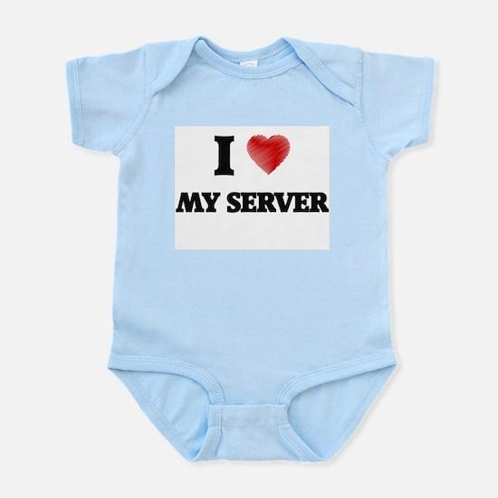I Love My Server Body Suit